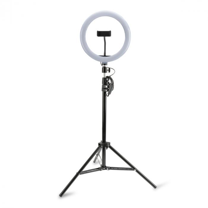 suport telefon tripod cu lampa led ring light loomipod xl 2in1 4smarts