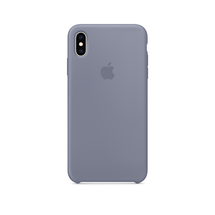 husa silicon apple iphone xs max lavender grey