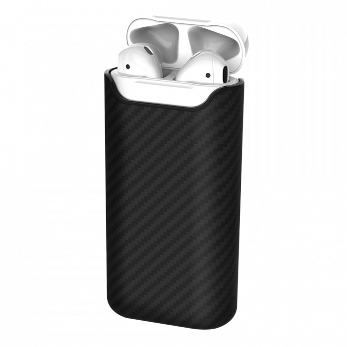 suport de incarcare cu acumulator wireless pitaka air pal petru airpods 2