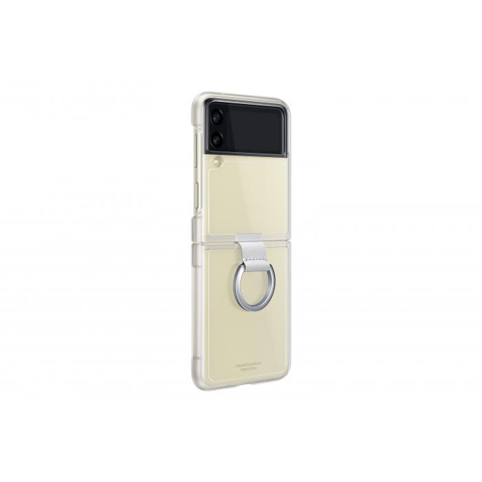 Husa cu inel Samsung Galaxy Z Flip3 Transparent