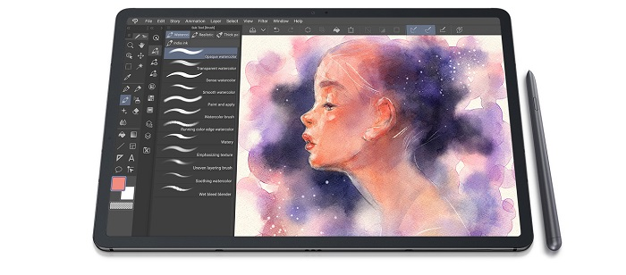 s pen precis cu latenta extrem de redusa samsung galaxy tab s7 plus